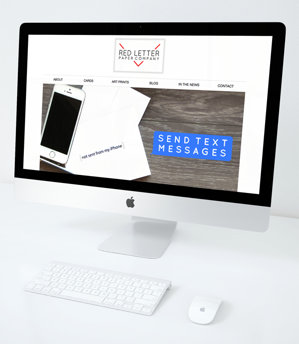 Red Letter Paper Company website