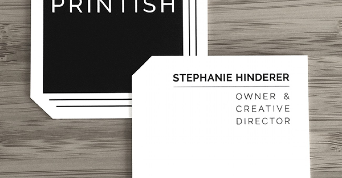 Printish logo and business card
