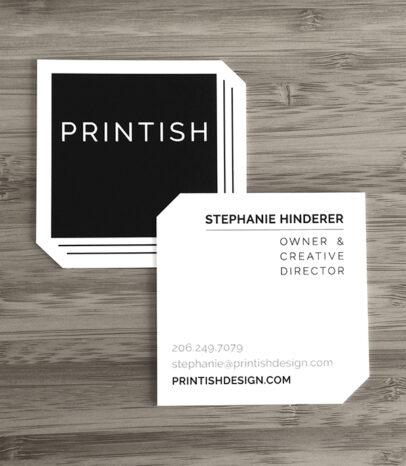 Printish logo and business card